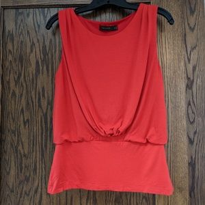 LIMITED, M, red/orange blouse sleeveless